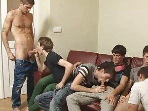 gay group orgy from SunPorno