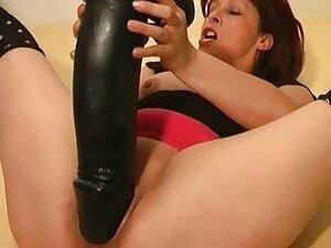 huge dildo fuck from SunPorno